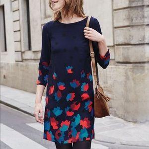 Boden Floral Rachel Dress Blue Black US 16L